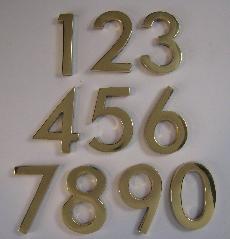 Self Adhesive Brass Numbers