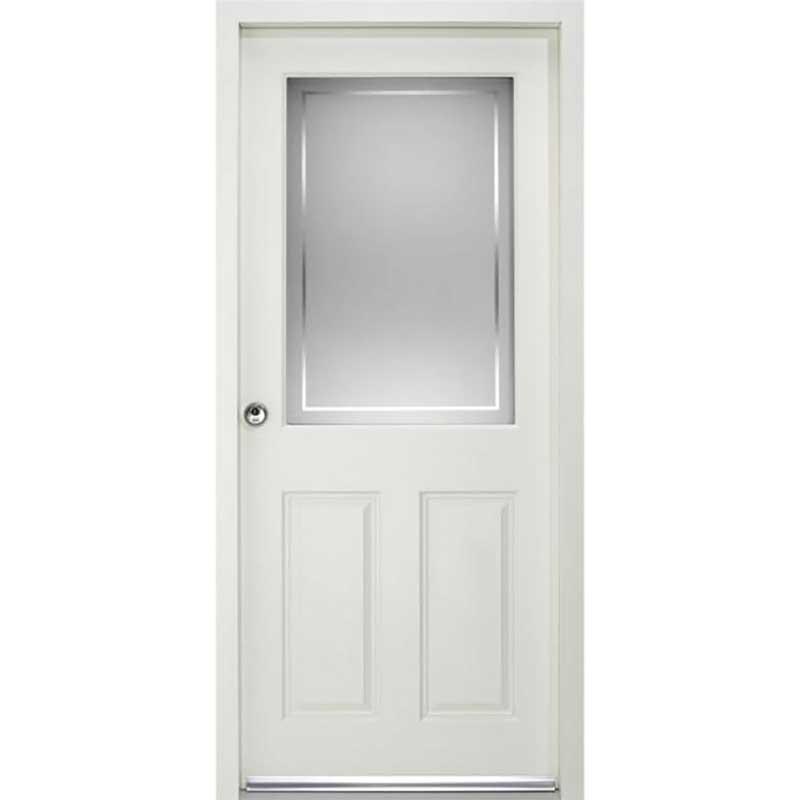 2XG2P ENDURADOOR RANGE / External Enduradoor Doorset 2XG2P With Frosted Glass Prefinished