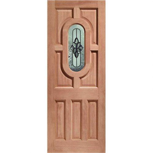Acacia Double Glazed External Hardwood Door (Dowelled) with Chesterton Glass