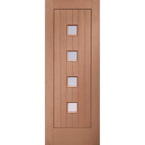 Siena External Hardwood Door with Double Glazed Obscure Glass
