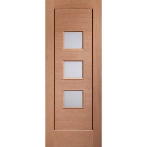 Turin External Hardwood Door with Double Glazed Obscure Glass