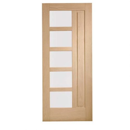 Lucca Double Glazed External Oak Door (M&T) with Obscure Glass