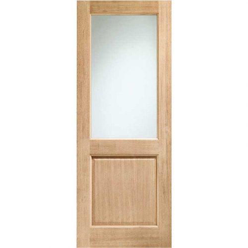 2XG Double Glazed External Oak Door (Dowelled) with Clear Glass