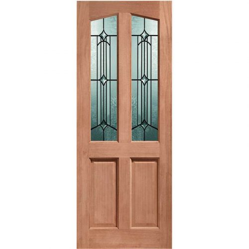 Richmond Double Glazed External Hardwood Door (Dowelled) with Donne Glass