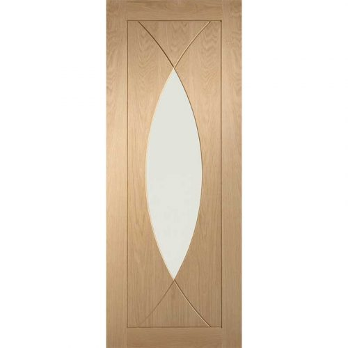 Pesaro Pre-Finished Internal Oak Door with Clear Glass