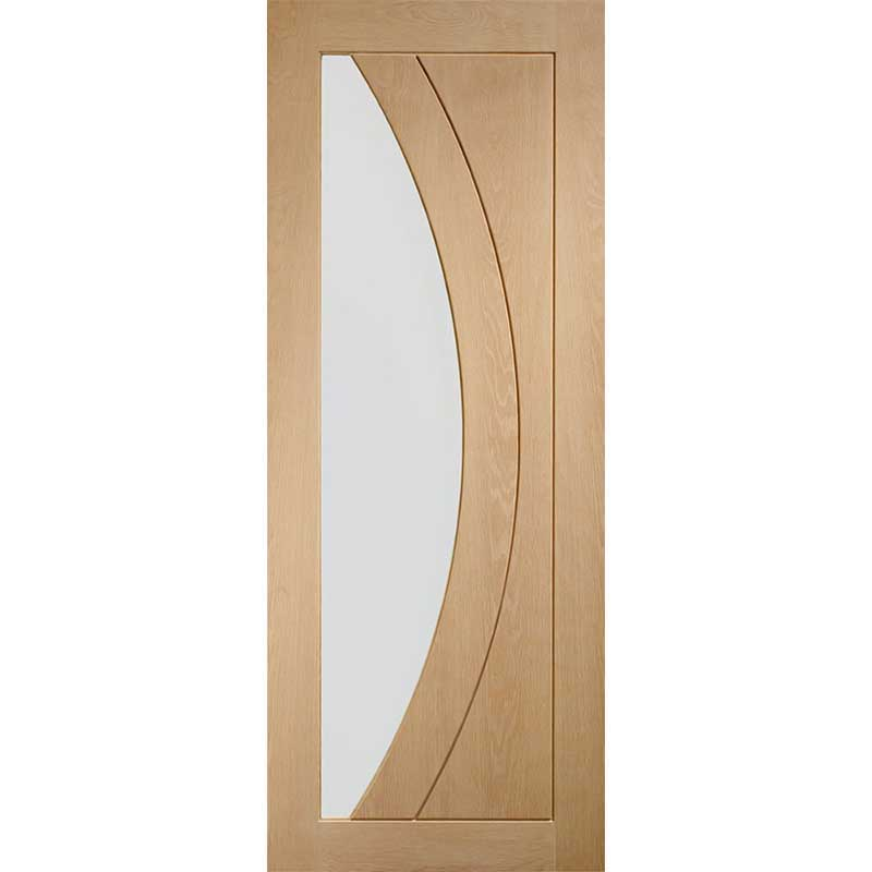 """Internal Oak Pre-Finished Salerno with Clear Glass (24"""")"""