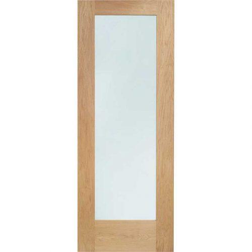 Pattern 10 Internal Oak Door with Clear Glass