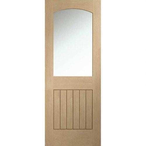 Sussex Internal Oak Door with Clear Glass
