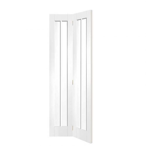 Worcester Internal White Primed Bi-Fold Door with Clear Glass