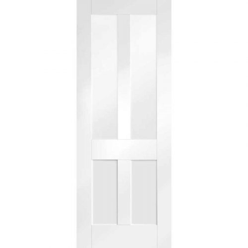 Malton Shaker Internal White Primed Door with Clear Glass