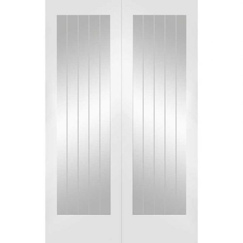"""Internal White Primed Suffolk 1L Pair with Clear Glass (46"""")"""