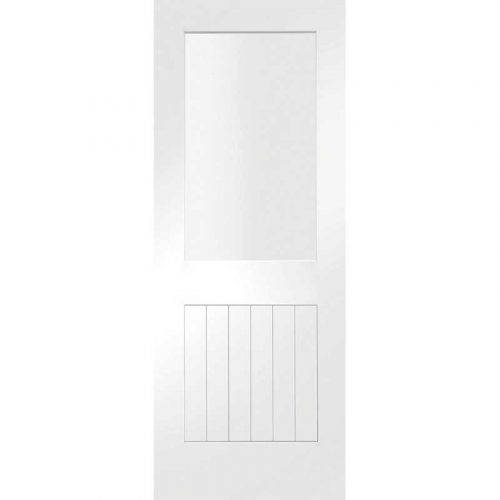 """Internal White Primed Suffolk 1L with Clear Glass (24"""")"""
