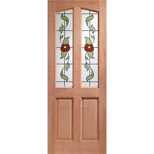 Richmond Single Glazed External Hardwood Door (Dowelled) with Keats Glass
