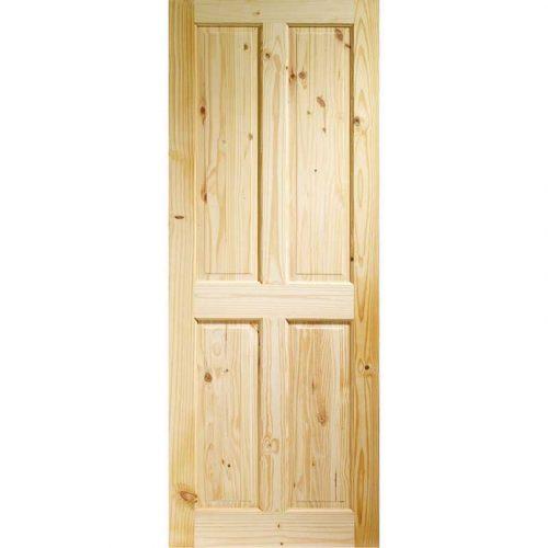 Victorian 4 Panel Internal Knotty Pine Door