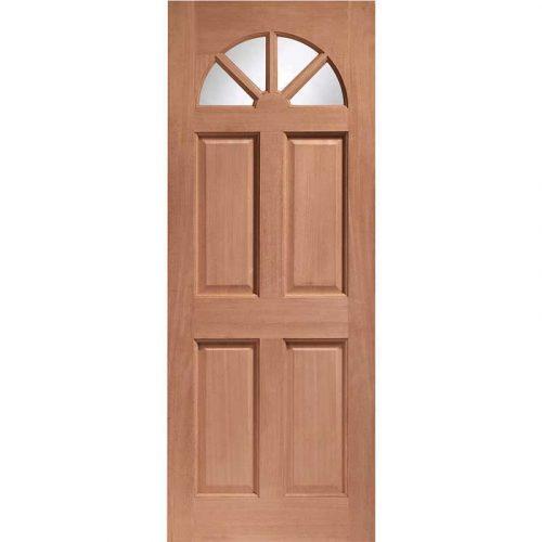 Carolina Single Glazed External Hardwood Door (M&T) Clear Glass