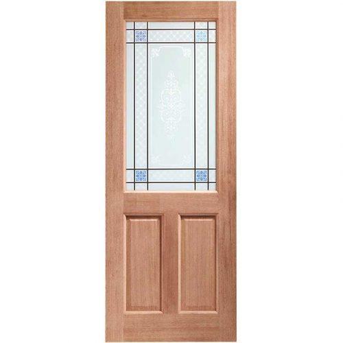 2XG Single Glazed External Hardwood Door (M&T) with Carroll Glass