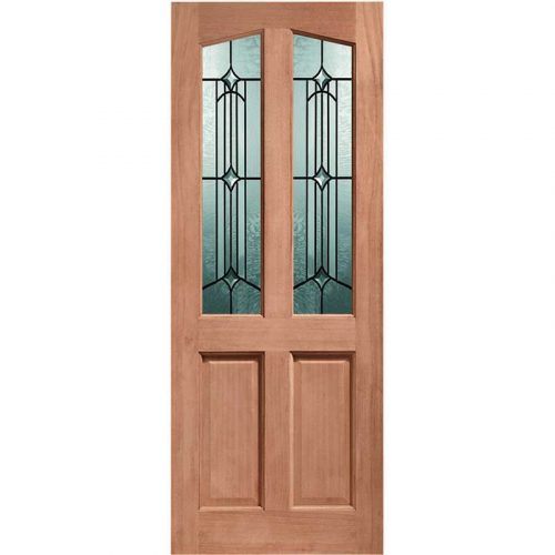 Richmond Double Glazed External Hardwood Door (M&T) with Donne Glass