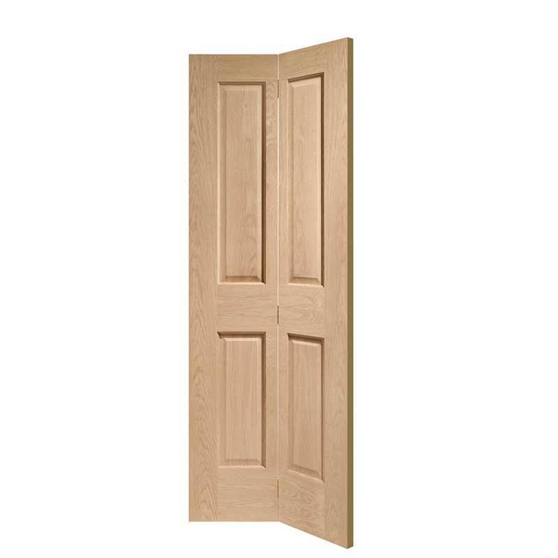 Victorian 4 Panel Bi-Fold Internal Oak Door