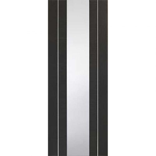 Forli Pre-Finished Dark Grey Door with Clear Glass
