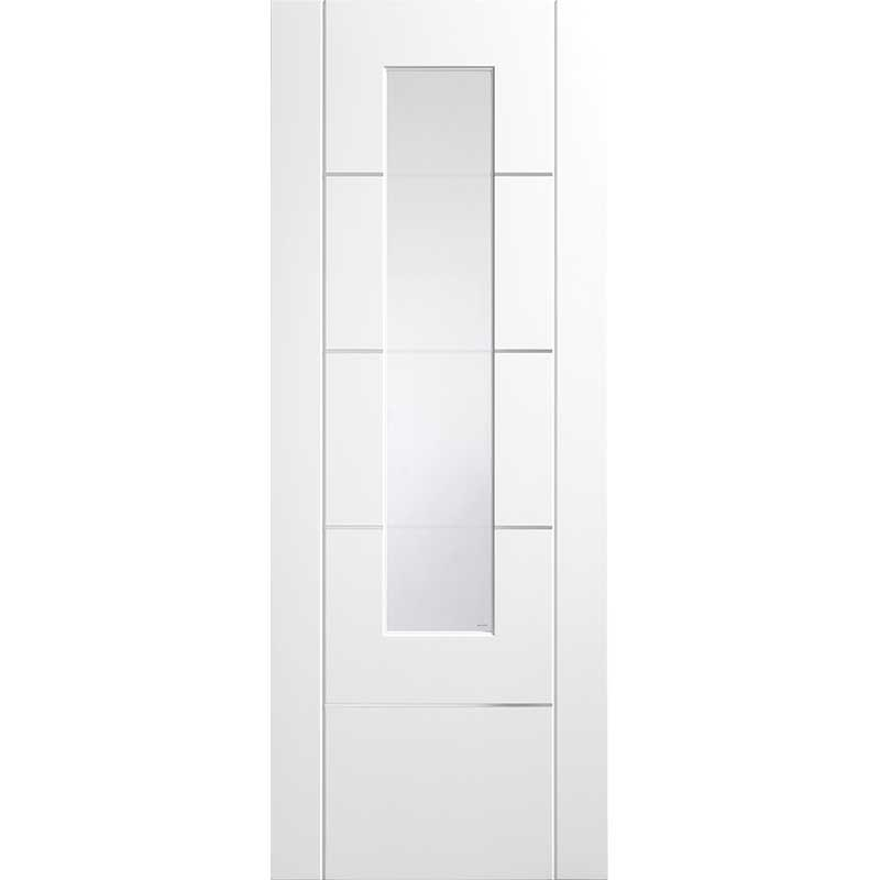 Portici Pre-Finished Internal White with Clear Etched Glass