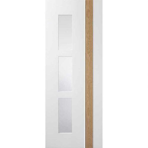 Pre-Finished White / Oak Praiano Glazed Door