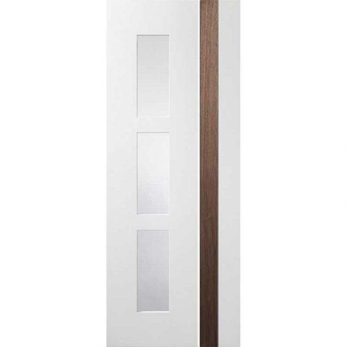 Pre-Finished White / Walnut Praiano Fire Door