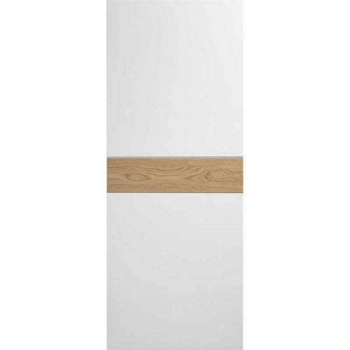 Pre-Finished White / Oak Asti Fire Door