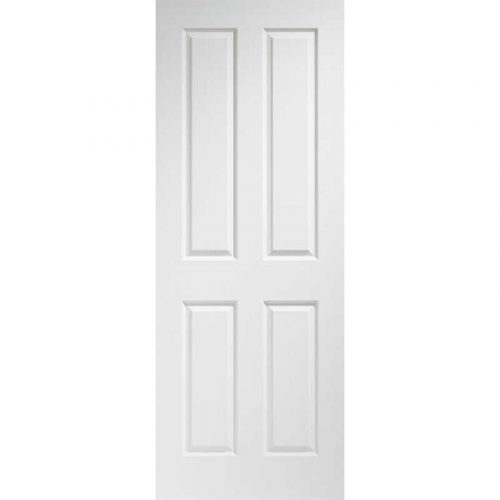 Victorian 4 Panel Internal Pre-Finished White Moulded Door
