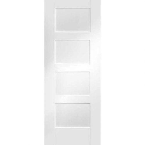 """Internal White Primed Shaker 4 Panel Fire Door (32"""")"""