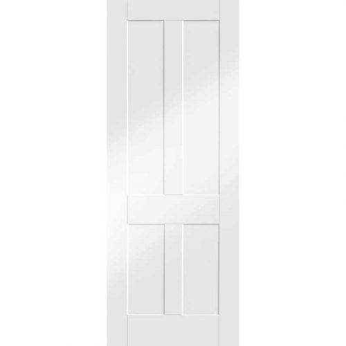 "Internal White Primed Victorian Shaker Fire Door (24"")"