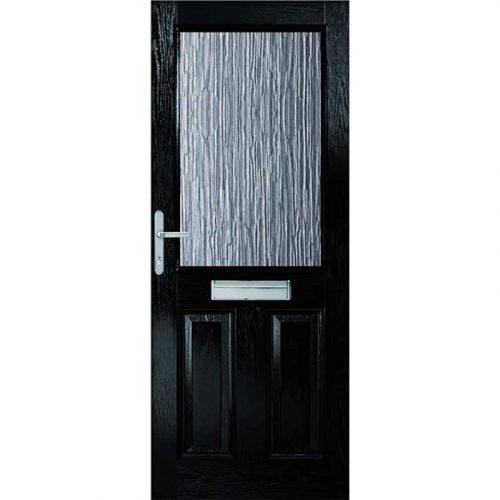 2XG with Clear Glass External Composite Doorset