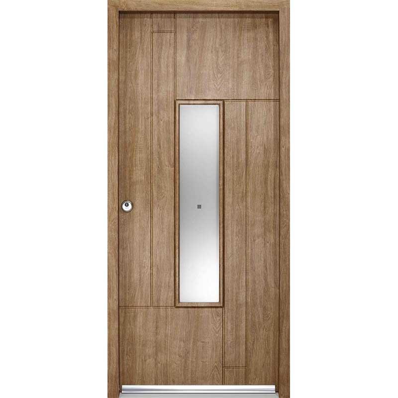 FERNANDO GLAZED ENDURADOOR RANGE / FERNANDO EXTERNAL GLAZED ENDURADOOR DOOR SET IN AN OAK FINISH