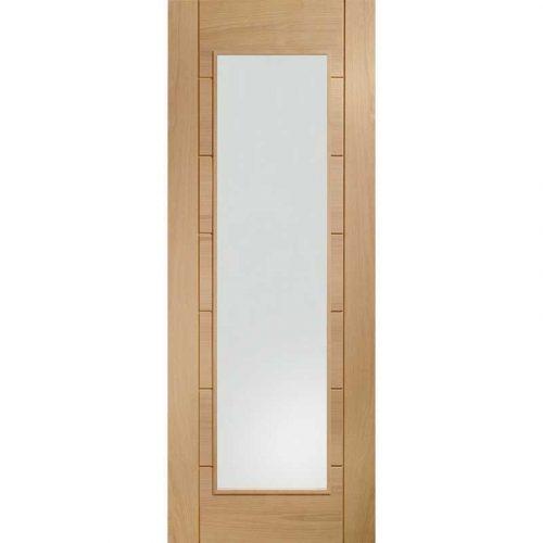 Palermo Internal Oak Rebated Door Pair with Clear Glass