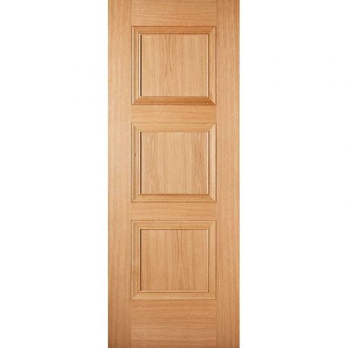 Pre Finished Oak Amsterdam Internal 3 Panel Door
