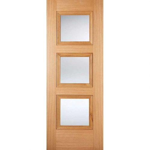 Oak Internal Pre Finished Amsterdam Glazed Door