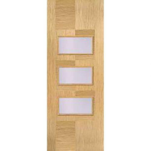 Internal Oak Pre Finished Apollo 3L Glazed Door