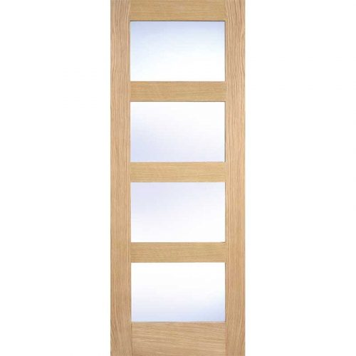 OAK CONTEMPORARY GLAZED 4L CLEAR PRE-FINISHED
