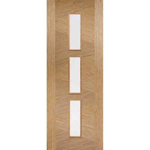 Pre Finished Oak Internal Zeus Glazed 3L Door