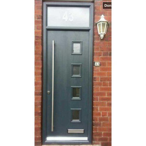 4 Light Anthracite Grey Composite Door