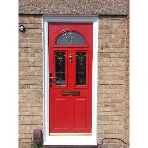 Red Riviera Traditional Composite Door