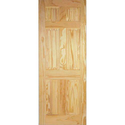 6 Panel Clear Pine Internal Door