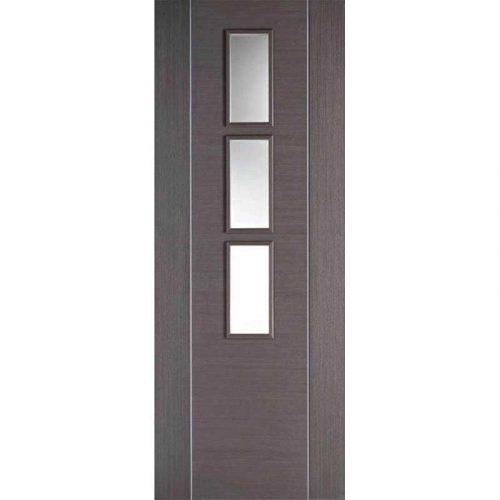 Alcaraz Chocolate Grey Glazed Internal Door