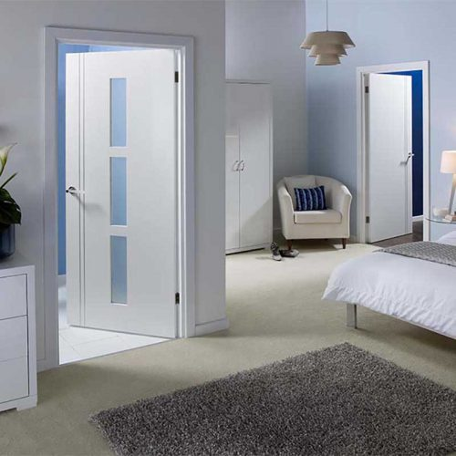 Sierro Blanco White Glazed Internal Door
