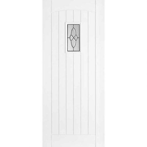 White Cottage Lead Glazed External Door