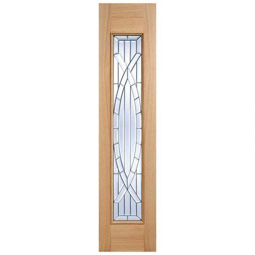 Majestic Sidelight Zinc Clear Bevelled Double Glazed External Door