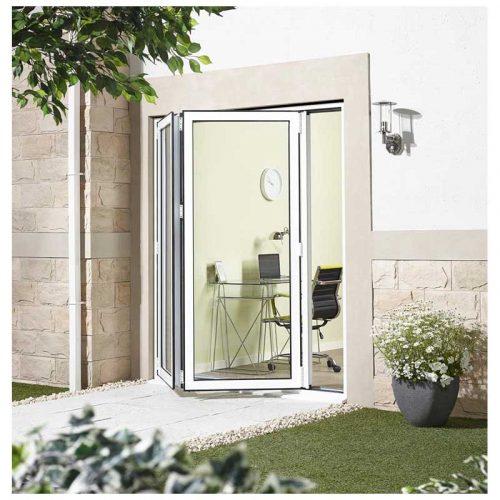 6' White Left Folding Doorset Double Glazed Units External Door