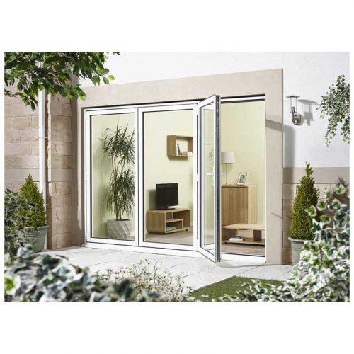 8' White Left Folding Doorset Double Glazed Units External Door