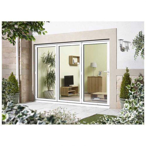 8' White Right Folding Doorset Double Glazed Units External Door
