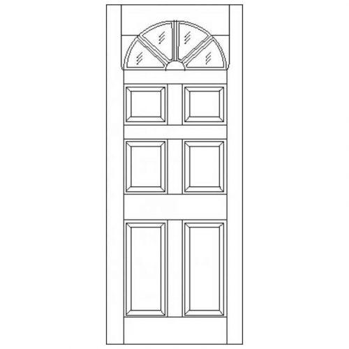 Carolina 6P Unglazed External Door