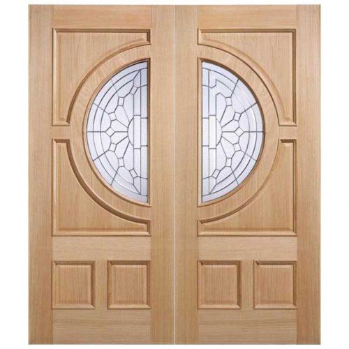 Empress Zinc Clear Bevelled Double Glazed External Door